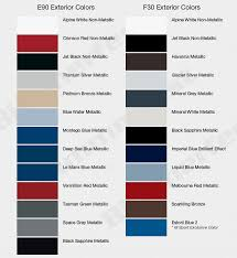 check out the color choices for your 2012 bmw f30 3 series