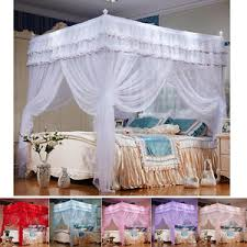Canopy Bed Curtains Queen 4 Corner Post Bed Curtain Canopy Mosquito Netting Canopies Twin