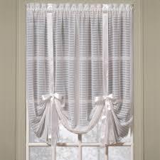 Tie Up Window Curtains Nimbus Stripe Tie Up Shade