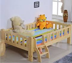 simple design children bed cheap solid pine wood kids bed