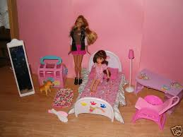 barbie bedroom set a cute dog and a little barbie so u2026 flickr