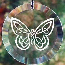 celtic butterfly glass ornament suncatcher celtic knots