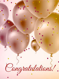send this beautifull greeting balloons pearl color balloons congratulations card congratulations are in