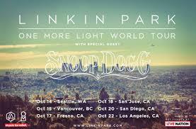 one light linkin park linkin park ft snoop dogg one more light tour ticket download