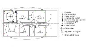 electrical plan autocad file electrical house plan
