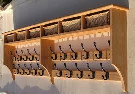 interior entryway bench and coat hanger oak coat rack with baskets