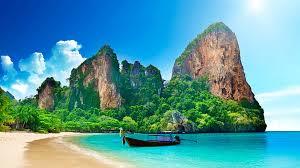 railay beach near krabi thailand one of the most beautiful