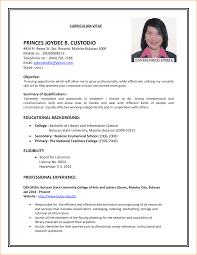 Model Resume Example 13 Model Cv For Job Application Basic Job Appication Letter