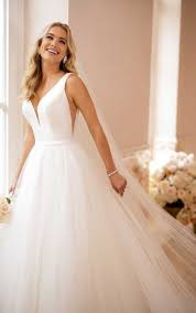 wedding dress simple simple wedding dress with v neckline stella york wedding gowns