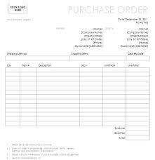 purchase order with simple lines design