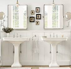 45 types lavish country style bathroom with pedestal sinks sink