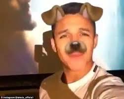 alexis sanchez snapchat arsenal star alexis sanchez uses dog filter on snapchat daily mail