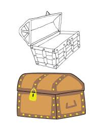 treasure chest coloring page printable coloring page treasure