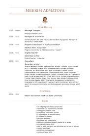 Massage Therapist Job Description Resume by Massage Therapist Resume Samples Visualcv Resume Samples Database