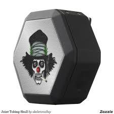 cool looking speakers so cool looking joint toking skull black bluetooth speaker