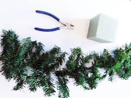 how to make a mini tree from garland my design