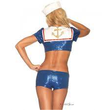 sequin sailor womens pinup costume