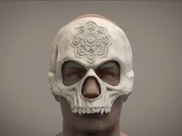 mandala halloween mask skull mask masquerade mask stl 3d model 3d