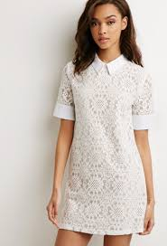 collared lace shift dress forever 21 2000112426 dresses