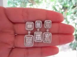 diamond earrings philippines 3 09 carat diamond white gold earrings pendant set 14k jewelry