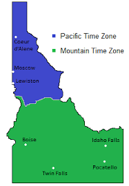 map of idaho cities zones map in idaho usa timebie