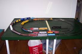 fold up train table small layout trainboard com the internet s original