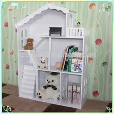 Doll House Bookcase Fashion White Kids Wooden Dollhouse Bookcase Kids Furniture Buy