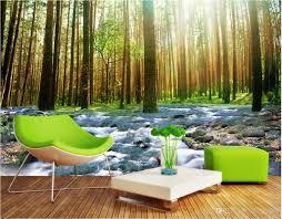 Wall Mural Sunlight In The 3d Room Wallpaper Custom Photo Mural Sunshine Forest Water Home