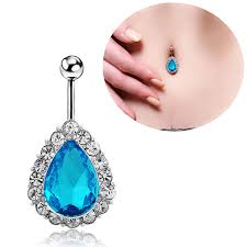 3color belly button rings belly piercing navel ring