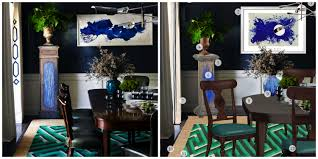 get the look jeffrey alan marks blue u0026 green dining room the