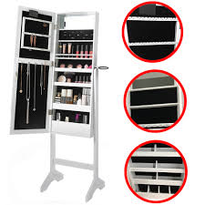 Jewellery Organiser Cabinet White Floor Standing Make Up Jewellery Organiser Cabinet With