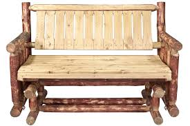 Free Wood Glider Bench Plans by Pine Log Outdoor Furniture