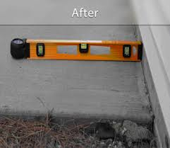 concrete lifting before and after photos polylevel concrete
