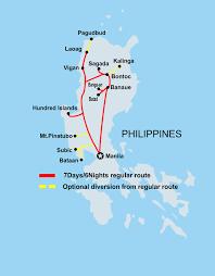 Luzon Map Banaue Tours