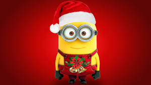 Despicable Me Christmas Lights by Despicable Me Christmas Minions Red Background Wallpapers Hd