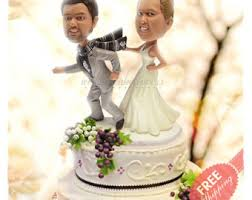 and robot wedding cake topper custom bride and groom