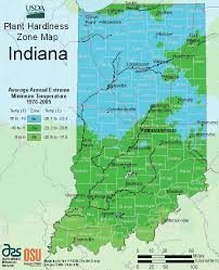 Garden Growing Zones - indiana usda zones map planting gardens and landscaping