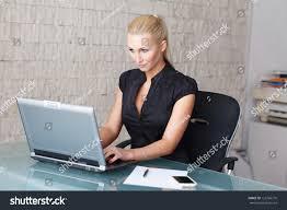 beautiful blonde woman chatting stock photo 125766770 shutterstock