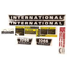 decal set for case international harvester 1066 tractor ebay