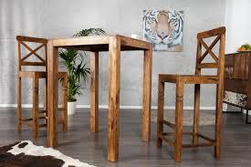 table et cuisine table haute de bar en bois idées décoration intérieure