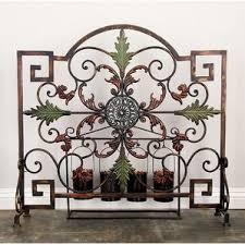 Single Fireplace Screen by Tall Fireplace Screen All Fireplace Accessories Wayfair
