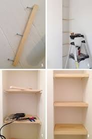 how to build floating shelves for tornado shelter pantry home