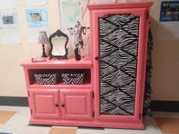 Diy Play Kitchen From Entertainment Center Repurposed Entertainment Center Became A Diva Vanity Preschool