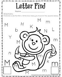 cute letter find worksheets with a freebie worksheets pre