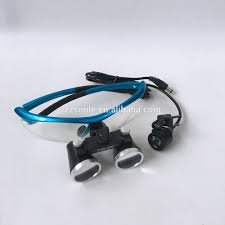 wireless dental loupe light dental 3 5x 420 surgical binocular medical loupe with led head light