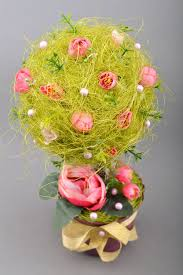 Flower Topiary Madeheart U003e Handmade Bright Green Topiary Tree With Sisal And