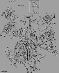 cylinder head and crankcase 6x4 utility vehicle john deere