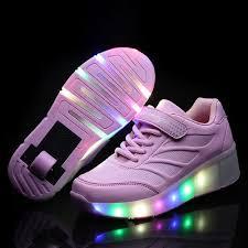 light up tennis shoes for kids wheely shoes girls boys led light up heelys roller skate