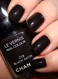 chanel le vernis nail color in black satin my pretty face