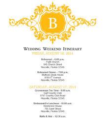 wedding itinerary wedding itinerary wedding itinerary template bridetodo